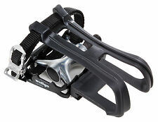"""Wellgo LU-964 Platform Pedal with Toe Clip and Strap Black 9/16"""""""