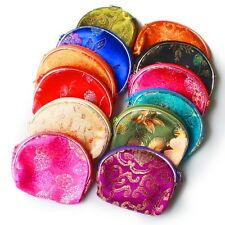 5 PCS Chinese Classic Silk Pouch Wallet Coin Small Purse Gift Bag Random Color
