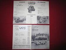 N°4175 /  dépliant LATIL type H14 de 4.5 Tonnes   1952