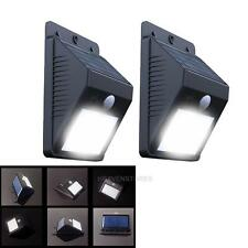 2 X  LED PIR Solarlampe Wandleuchten Solarleuchte Solar Lamp mit Bewegungsmelder