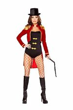 Adult Woman Costume Sassy Ring Leader Red Black Gold Size Large 4 Pc Set