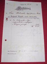 rechnung alt antik august hagel mech. werkstätte  waldsee württ.1916 papier