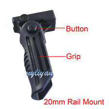 Folding Foregrip Hand Vertical Fore Grip Picatinny Weaver Rail 20mm For Airsoft