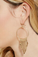 Fashion 14K Gold Plated Tassels Circle Chandelier Earrings EH0271