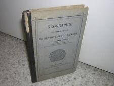 1875.Géographie élémentaire du département de l'Aude / Ditandy