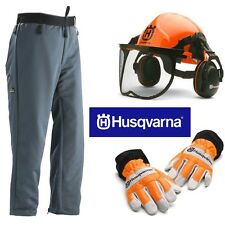 Husqvarna Chainsaw Safety Kit Helmet Trousers Gloves