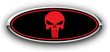 Ford Focus ST 2016 EURO ONLY Overlay Emblem Decal Punisher Black/Red 3Pc Kit