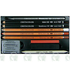 Cretacolor ARTINO Artists Pencil Drawing Set.Charcoal,Pastel,Graphite etc 40020