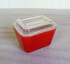 Vintage Red Pyrex Refrigerator Dish 501-B with Lid 501-C