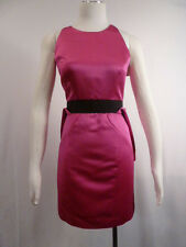 Milly NWT Designer Runway Pink Satin Silk Wiggle Party Cocktail Dress 2 S Small
