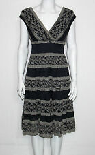 NEW Studio M Cap Sleeve Lace Casual Dress Size Small NAVY Ratail $128