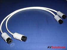 Speaker Cable Adaptor (2-Pin DIN Sockets, Pair, 0.25 Mtr) for Bang & Olufsen B&O