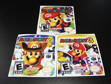 Nintendo 64 Mario Party 1,2,3 N64 Cartridge Replacement Game Label Sticker Lot