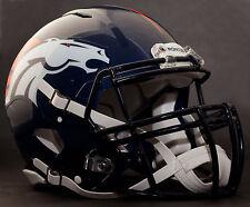 ***CUSTOM*** DENVER BRONCOS NFL Riddell Revolution SPEED Football Helmet