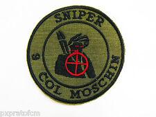 Patch Sniper 9 Col Moschin Folgore Verde per Mimetica Vegetata Italiana Militare