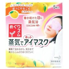Kao Megurthythm Hot Steam Eye Mask Citrus Fragrance 5 Sheets