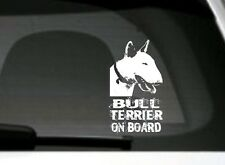 Bull Terrier On Board, Car Sticker, High Detail, Great Gift For Dog Lover