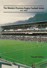 THE WESTERN PROVINCE RUGBY FOOTBALL UNION SOUTH AFRICA INFORMATION BOOKLET