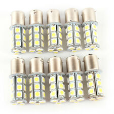 Replaceable White LED 12V 1156 BA15S 18SMD Car RV Trailer Light Bulb 10 Pcs Set