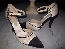 auth. CHANEL tan & black high heel shoes - NIB - 40 or 39.5 or 10