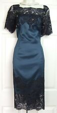 COAST HELMI DUCHESS SATIN FOREST GREEN PARTY EVENING DRESS SIZE 12 BNWT RRP £179