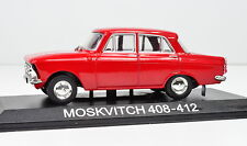 Moskwitsch 408-412 rot Maßstab 1:43