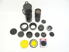 Vintage Lot Auto Pro Master Konica Japan Formula 5 Lenses Camera Accessories