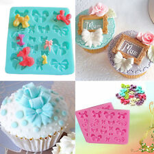Silicone Fondant Decorating Bowknot Modelling Mold Xmas Cake Baking Tools DIY