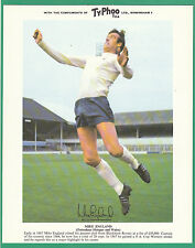 FOOTBALL - TYPHOO  TEA - RARE XXL CARD -  MIKE  ENGLAND  OF  TOTTENHAM  - 1969