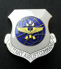 Military Airlift Command Air Force Large Cap Hat Jacket Pin USAF 1 1/2 inches