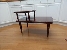 mid century modernism Eames style taper leg tier laminate end  side table 60's