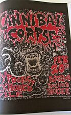 Cannibal Corpse MINI Concert Poster Reprint for 2004  Portland Oregon Gig 14x10