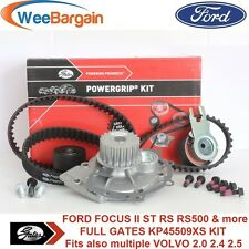 FORD FOCUS II 2.5 ST 225BHP RS RS500 GATES KP45509XS Timing Belt Water Pump Kit