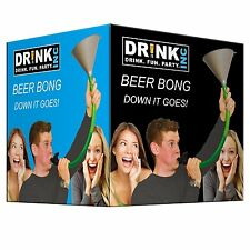 Beer Bong Funnel with tube and tap, stag adult drinking game party fun 3160