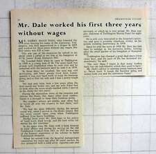 1962 Mr Harry Mayo Dale, Dales Store, Worked First Three Years Without Wages