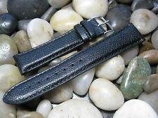 20 mm Hadley Roma MS2045 Black Grain Calfskin Leather Watch Band strap USA Made!