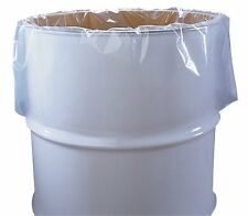 "55 Gallon Clear Plastic Drum Liners Food Grade 38"" x 65"" 6-Mil, Rl of 100 DL6386"
