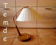 TEMDE Teak Tischlampe Lampe Mid Century Modernist Table Desk Lamp Swiss 1960s