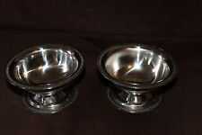 2 STAINLESS ICE CREAM CUPS DISHES BOWLS