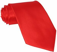 New Polyester Men's Neck Tie Shiny Finish Red Necktie only formal wedding prom