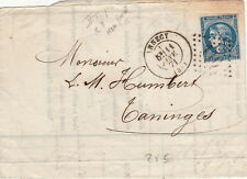 Lettre/Cover France 20c Type Borbeaux    Annecy 1871