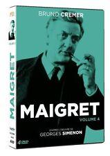 17630//MAIGRET VOLUME 4 COFFRET 4 DVD /8 EPISODES  BRUNO CREMER NEUF MAIS DEBALL