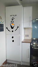 L'OLAF congelati Let It Go NATALE FRIGO Decalcomania Muro Porta Finestra, KIDS F