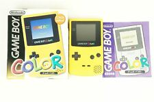 Nintendo Gameboy COLOR Yellow Console GBC Box Japan USED