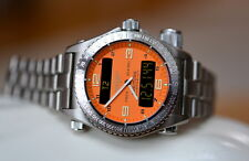 Breitling Emergency Titanium Orange 42mm Watch Ref E56121.1 Used Rare