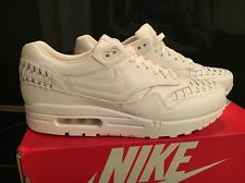 Nike Air Max 1 Woven Triple White Rare 725232-100 Uk9