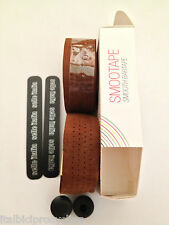 1 X Selle Italia, Brown Leather, Vented SmooTape Gel Handle Bar Tape Free Post