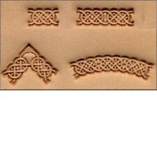 4 Piece Celtic Leather Stamp Set - Craftool -pc. Stamping Tool Leathercraft