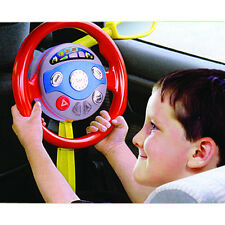 Kids Backseat Driver Pretend Play Car Steering Wheel Toy Lights & Horn Sounds