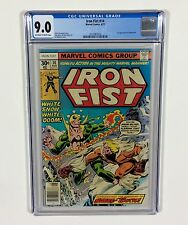 Iron Fist #14 CGC 9.0 KEY (1st Sabertooth, Wolverine's Father) Aug.1977 Marvel
